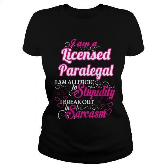 Licensed Paralegal - Sweet Heart - #men t shirts #volcom hoodies. PURCHASE NOW => https://www.sunfrog.com/Names/Licensed-Paralegal--Sweet-Heart-Black-Ladies.html?60505