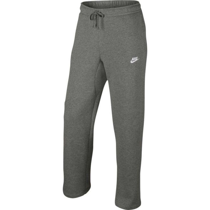 Nike Men's Sportswear Club Open Hem Fleece Pants, Dk Grey Heather/White