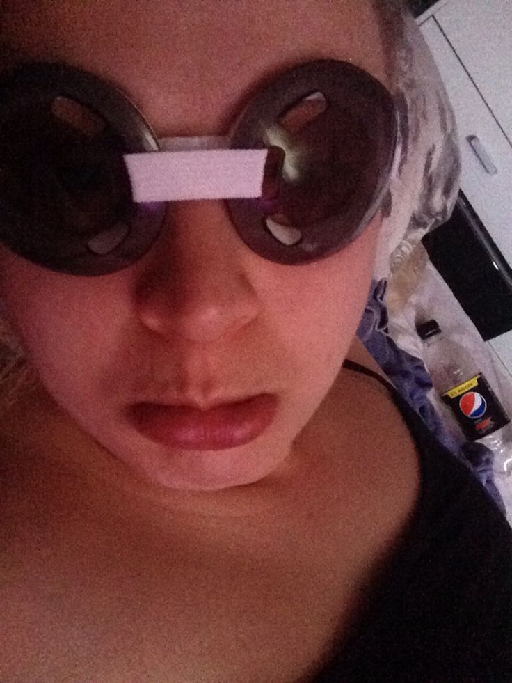 Daft protective goggles after my laser eye surgery ...