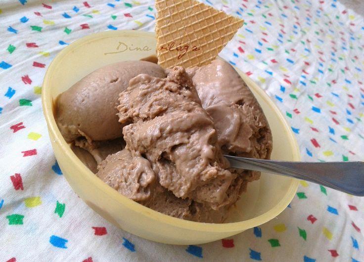 Tejcsokoládé fagylalt gép nélkül