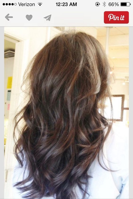 Long hair with lots of layers: