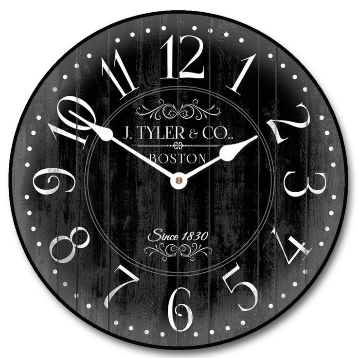 17 Best Images About Black And White Vintage Clocks On