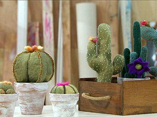 Cactus de fieltro by Gabriela Boccardo, pineado desde   http://www.foxlife.tv/manualidades/print/8797  OLIMPIA  <3