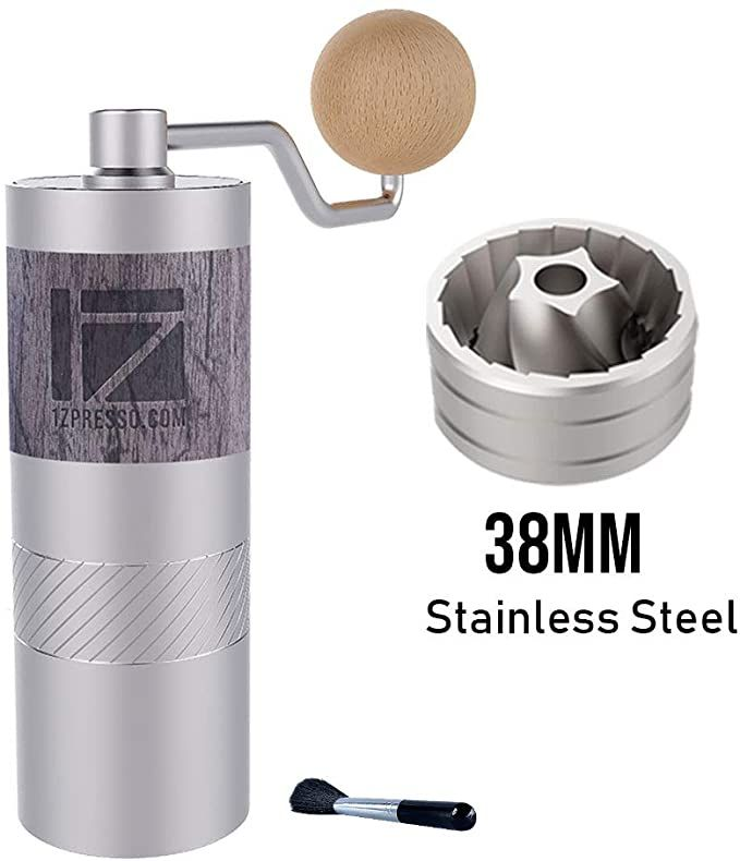 Amazon Com 1zpresso Q2 Manual Coffee Grinder Mini Slim Travel Sized Fits In The Plunger Of Aeropress In 2020 Manual Coffee Grinder Travel Size Products Coffee Grinder