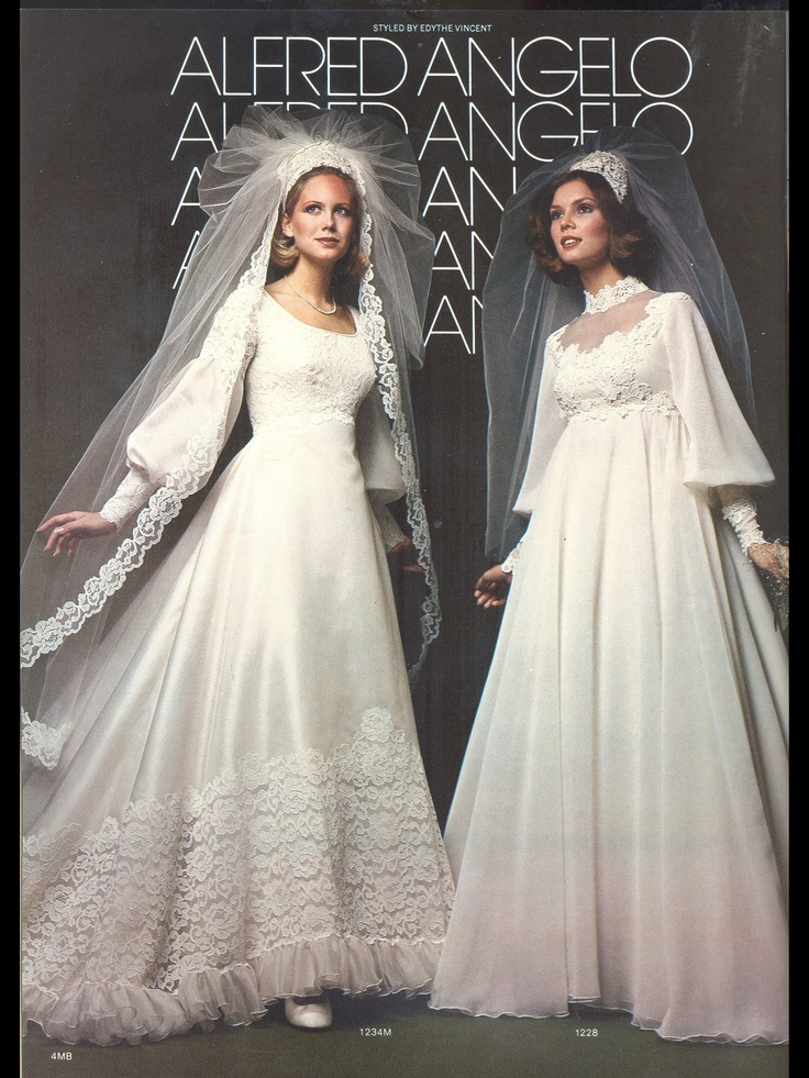 Vintage Alfred Angelo 70s Wedding Dress 1980s Wedding