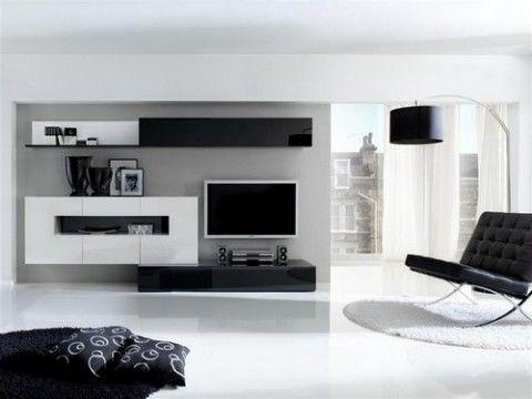 Salones minimalistas en blanco y negro tes and blanco y - Salones minimalistas ...