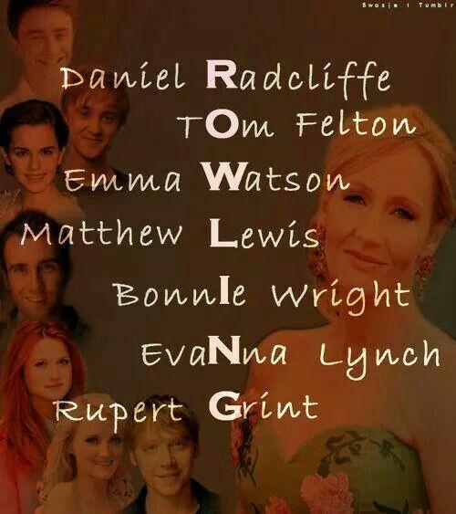 daniel Radcliffe tom felton emma watson Matthew lewis bonnie wright evana lynch rupert grint