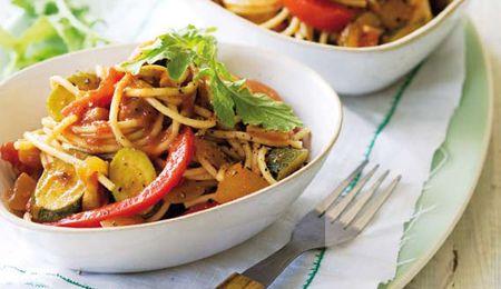 Chunky ratatouille pasta