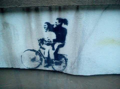 Street art- Tartu, Estonia, Aleksandri street; fot. Klara Sielicka, 2013. #streetart