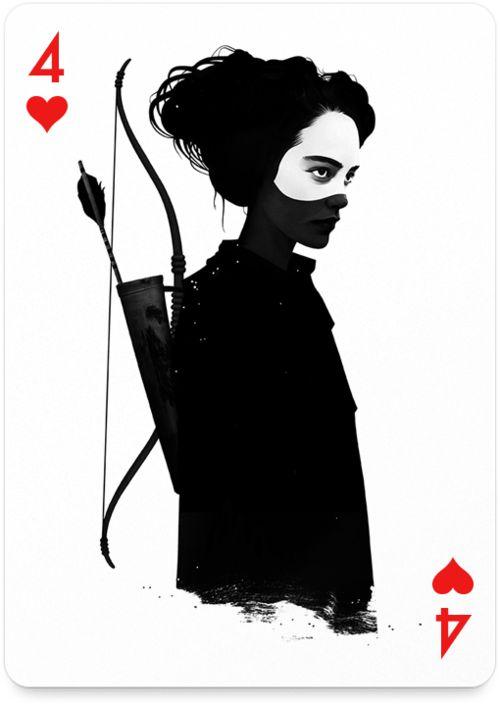 "Четверка червей из проекта Playing Arts . Автор: Ruben Ireland ""The Joker's Wild"" для UK Vogue Из dustyburrito.blogspot.com"