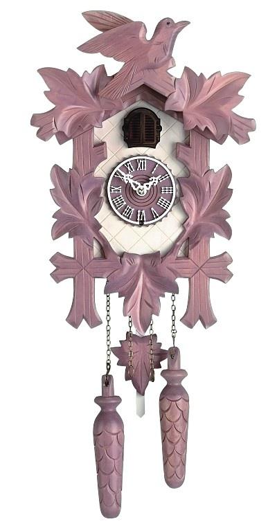 Quartz Cuckoo Clock ~ 5-Leaves Violet, Bird