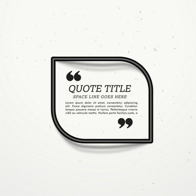 Black frame for quotation with shadow Free Vector