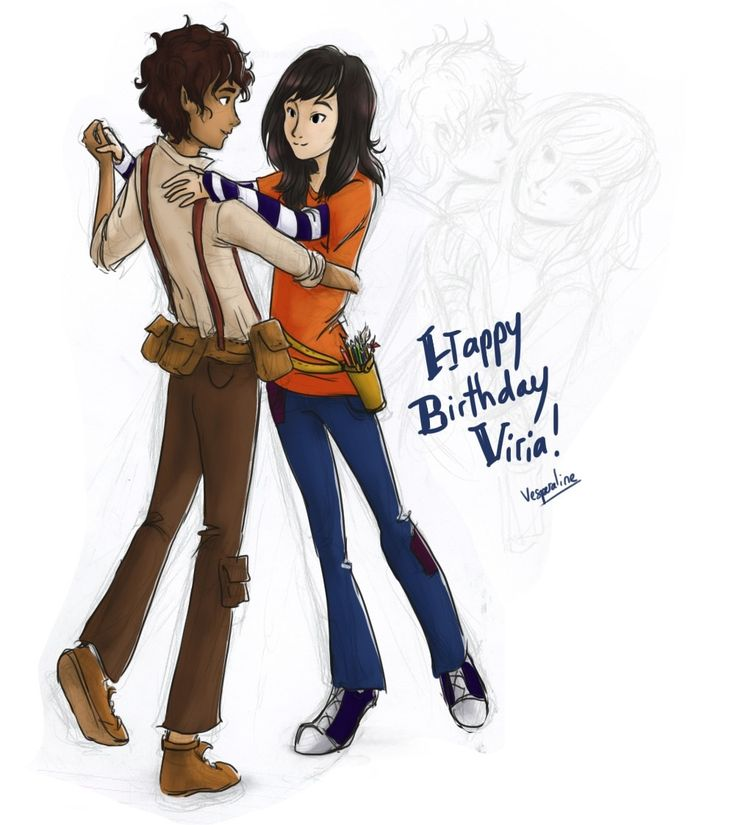 Leo Valdez and viria another drawing for virias bday ...