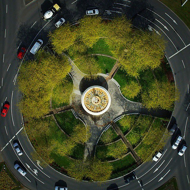 Now for something different, Hobart's Railway Roundabout Fountain from one of @aerialinspections drones. The Railway Roundabout Fountain was refurbished last year and now welcomes travellers to Hobart in all its former glory. It looks great here and fantastic at night with its colourful lights. Thanks for tagging #discovertasmania Aerial Inspections. #drone #fountain #hobart