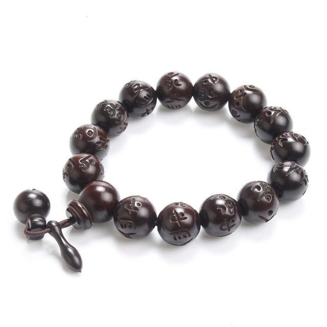 Natural Wood Buddhist Mala Bracelet