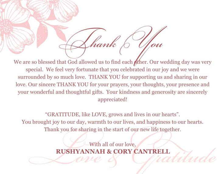 Thanks For Wedding Invitation Quotes: 25+ Best Ideas About Thank You Card Wording On Pinterest