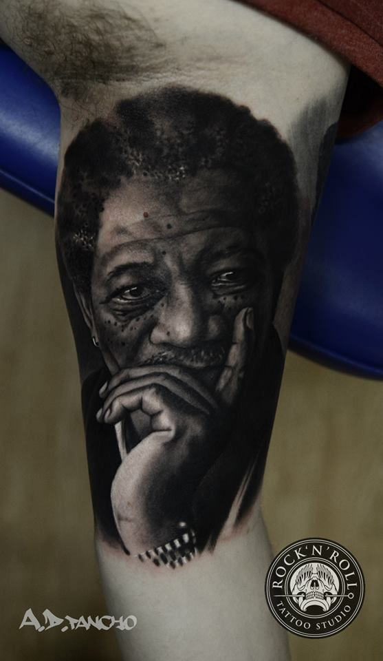 find this pin and more on color tattoos an amazing morgan freeman