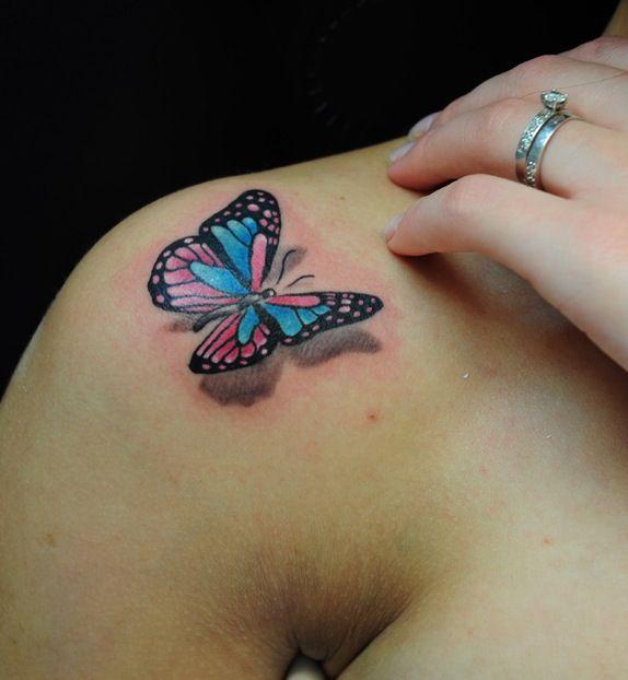 #3dtattoo 3d tattoo #butterfly 3d butterfly tattoo