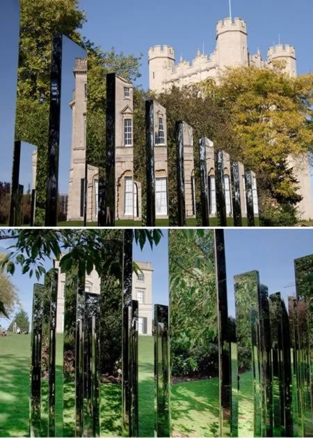 Jeppe Hein installed art at Royal Fort House, University of Bristol