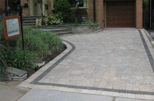 how to add interlock border in driveway