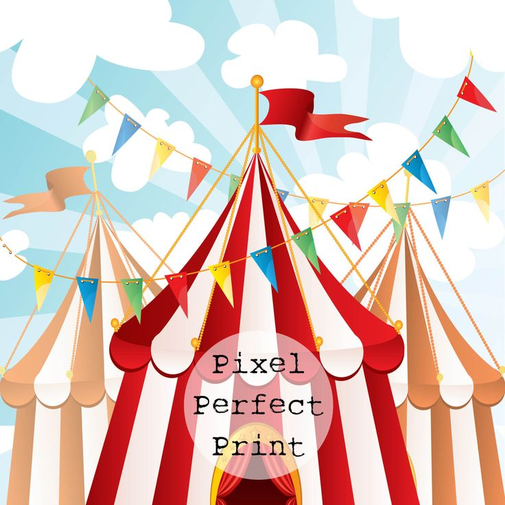 "4ft x 4ft ""Circus Party"" Vinyl Backdrop // Vinyl Backdrops // Vinyl Photography Backdrop // Kids Backdrops by PixelPerfectPrint on Etsy"