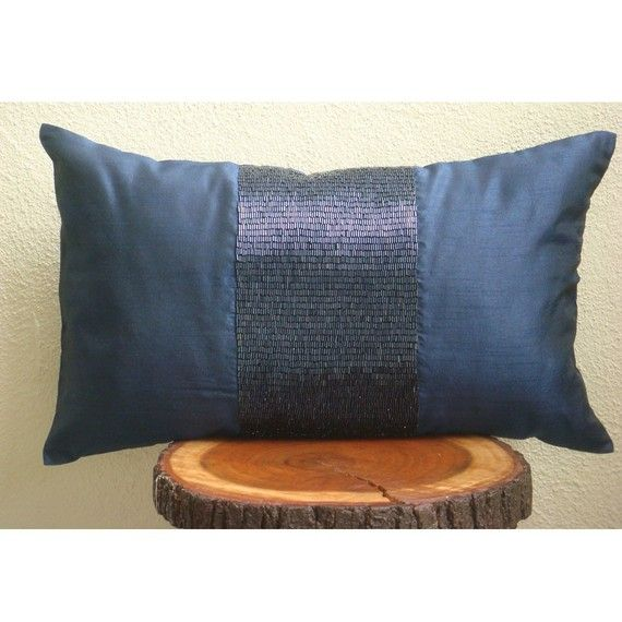 Rectangular Throw Pillow Covers : Decorative Oblong / Lumbar Rectangle Throw Pillow Covers Accent Pillow Couch Bed Toss 12x16 Navy ...