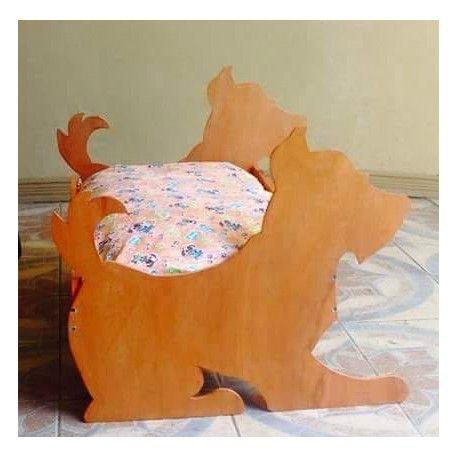 Camas personalizadas. Diseño de la tela a su gusto. #camasparamascotas #madera