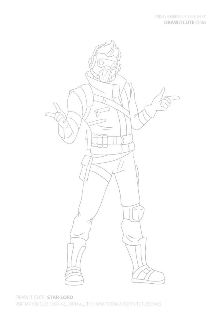 How To Draw Star Lord Step By Step Guide Coloring Page Fortnite Draw It Cute Superhero Coloring Pages Avengers Coloring Pages Superhero Coloring