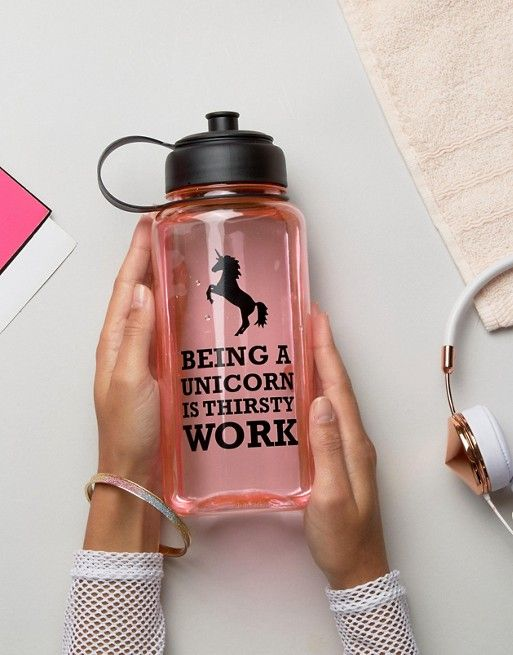 Unicorn Large Water Bottle