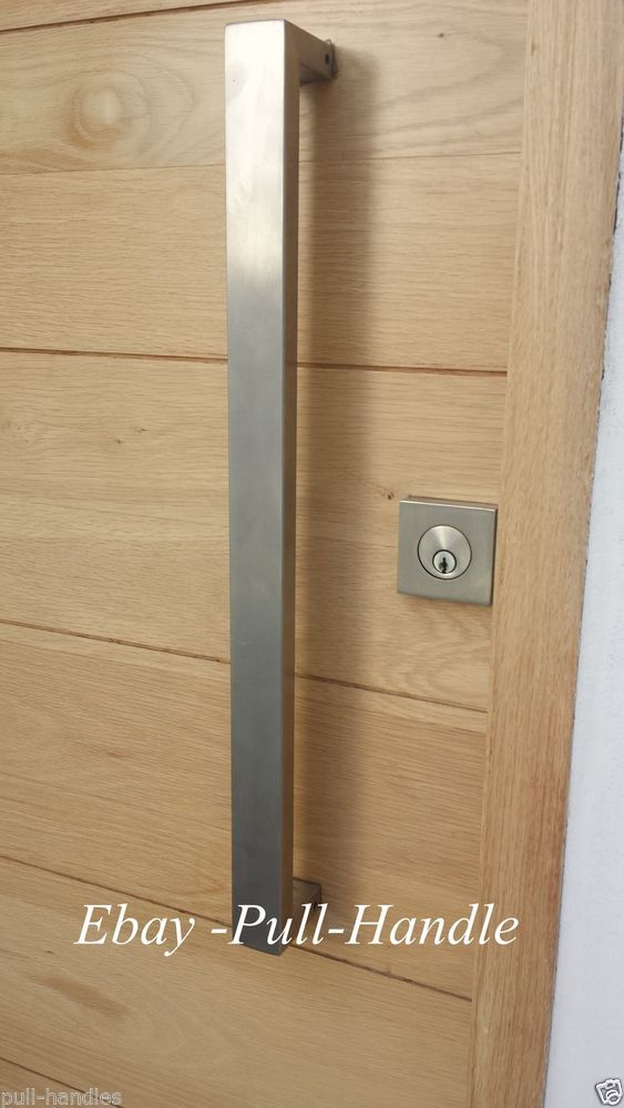 Entrance Entry Door Pull Push Square Long Handle 304