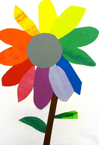 Colorful Flower Color Wheel Project Could Use With Hand Painted Papers And A Study Of