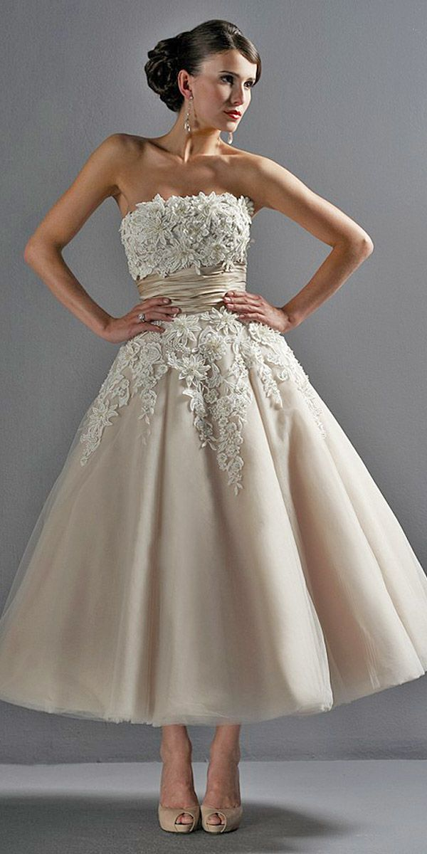 tea length wedding gowns 10