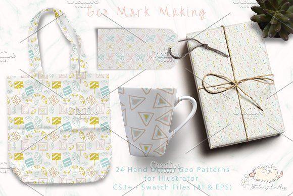 Geo Mark Making Patterns by Studio Julie Ann on @creativemarket