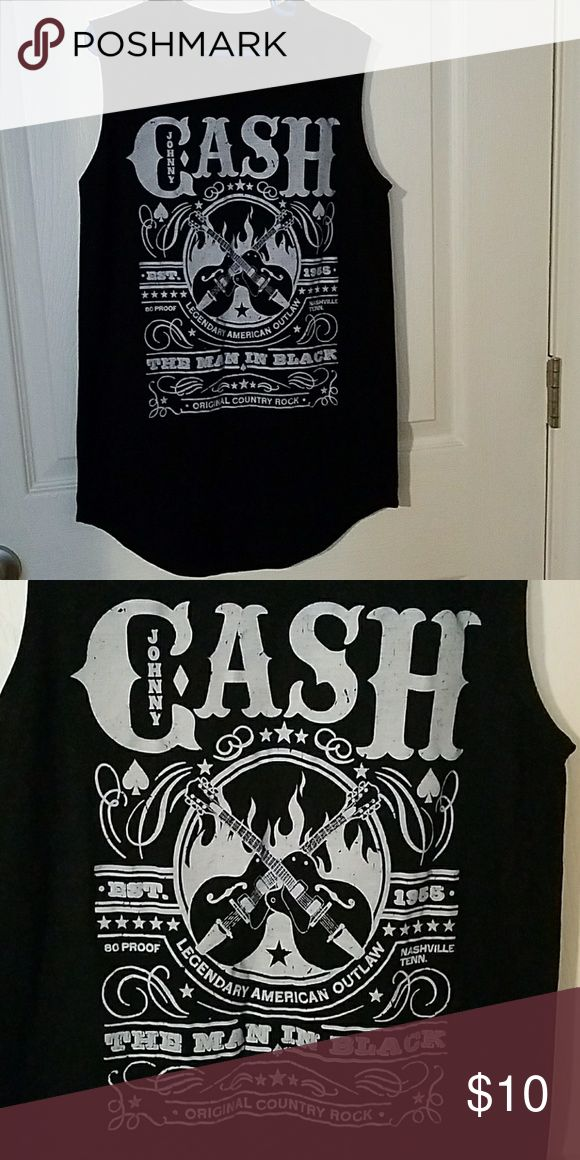 Johnny cash tank Black johnny cash tank with grey lettering. Really cute and comfortable. Wore twice so in great condition.size x-small Tops Tank Tops
