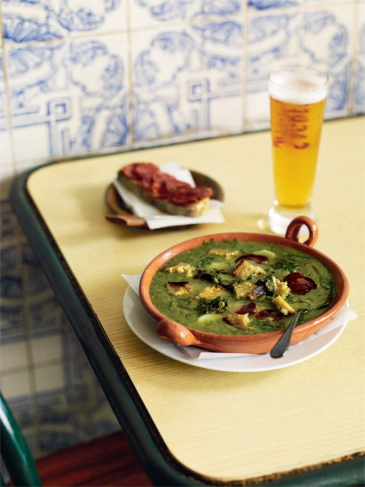 Kale soup with chouriço and potatoes recipe from Lisboeta by Nuno Mendes | Cooked
