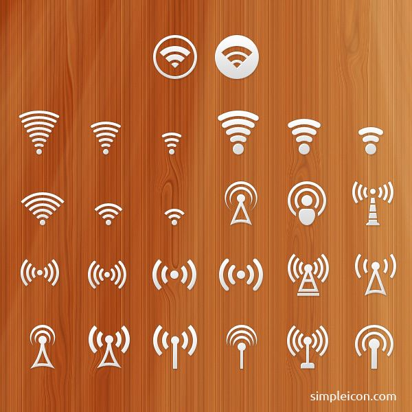 Signal PSD Icon Set - Free Icons