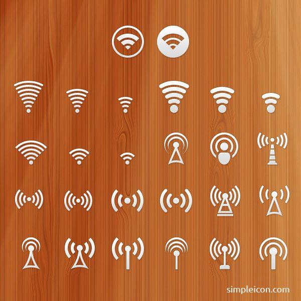 Signal PSD Icon Set - Free Icons