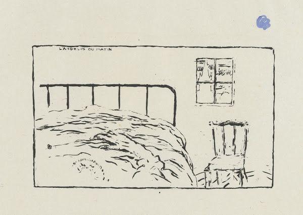 Het ochtendgebed (L'angélus du matin) uit de prentenserie Petites scènes familières, 1893, Pierre Bonnard, Van Gogh Museum, Amsterdam