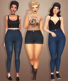 Sims 4 CC's - The Best: Denim Skirts by Sondescent | Sims 4 CC ...