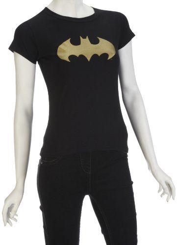 DC Comics - Camiseta de Batman para mujer, talla Large/ X-Large - talla inglesa, color Negro #camiseta #realidadaumentada #ideas #regalo