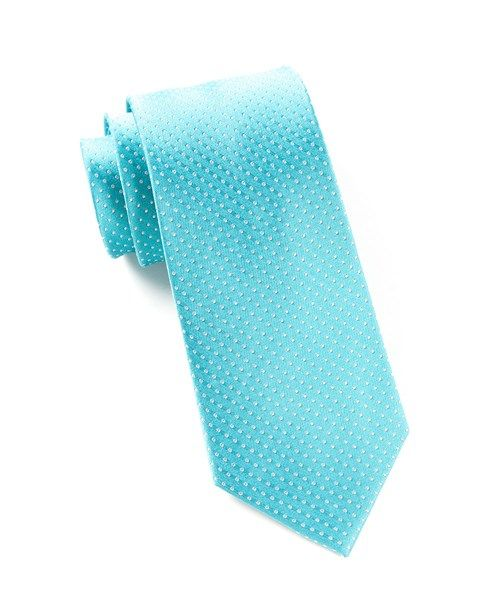 0c7322aa0081 Turquoise Pindot Tie | Ties, Bow Ties, and Pocket Squares | The Tie Bar