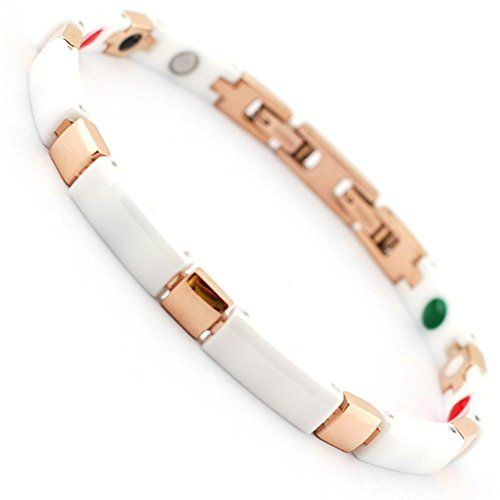 6mm Rose Gold Stainless Steel Tourmaline Germanium Magnetic White Magnetic Ceramic Bracelets for Women Generic http://www.amazon.com/dp/B00WLN10WQ/ref=cm_sw_r_pi_dp_AoVzvb1E1ZSBC