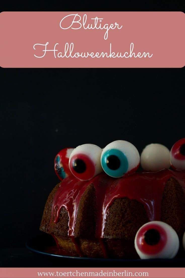 Halloween Rezept - Monster Gugelhupf mit Augen