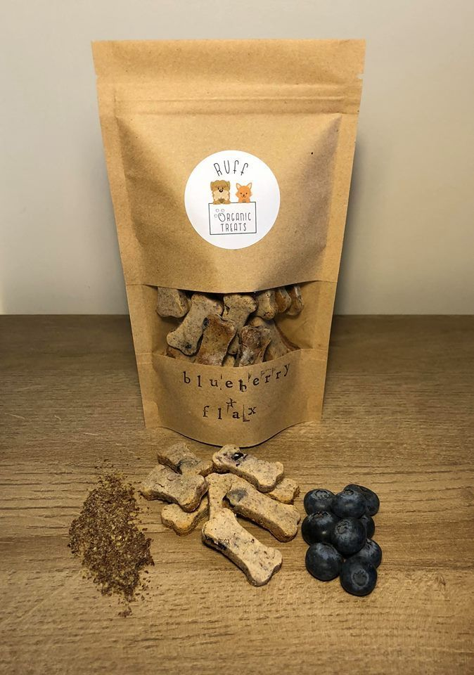 Organic Homemade Dog Treat Recipe With Blueberry And Flax Seed