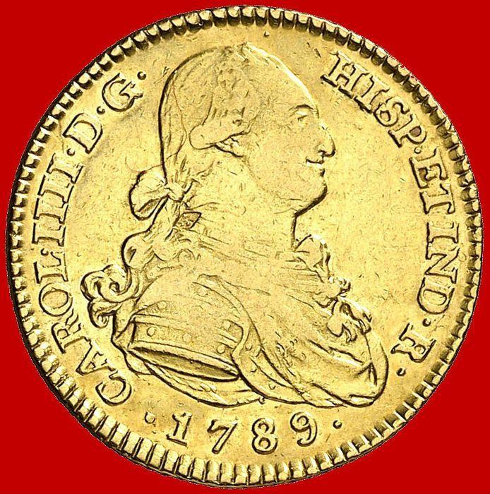 Spanje - Carlos IV (1788-1808) - 2 escudo gouden munt - 1789 - Madrid.  EUR 165.00  Meer informatie