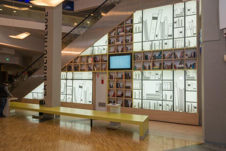 Centre commercial Art de Vivre | bibliothèque murale | Groupe Lindera