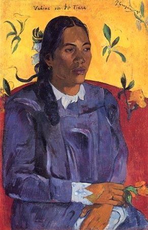 Paul Gauguin ~ Woman with a Flower (1891)