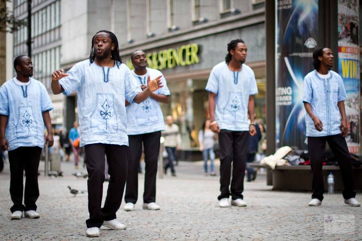 {Day 23/365}  Out of Africa  So I was walking back to the office through town today and got the joy of listening to this fab African singing/dance group!!! Ah I just love African singing!!!! Fond memories of home :)