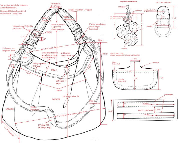 bag dimension