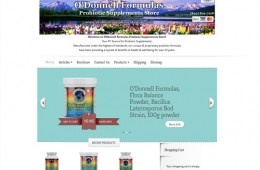 Ecommerce site for a company selling natural supplements